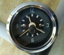 Repro VDO 52mm dia. Dash Clock VW Beetle Bus 12 Volt Bord Uhr Motometer