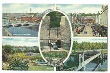 Cork Multiview PPC 1955 Corcaigh PMK Shows Patrick Street, Fitzgerald Park, Etc