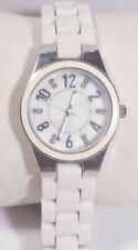 Women Fmd Watch White Bracelet Band Silver Case Diamond Acc Fmdgnw002 Easy Read