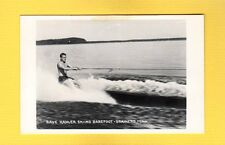 RPPC Brainerd,MN Minnesota, Dave Kahler Skiing BAREFOOT