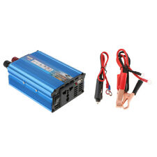 500W Solar Power Inverter DC 12V to 220V AC Converter 1 USB Car Charger Blue