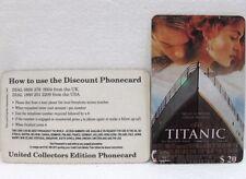 FAKE/FALSO scheda telefonica n° 28 LEONARDO DI CAPRIO Titanic