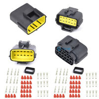 2x 12 Pin Way Vehicle Waterproof Electrical Wire Connector Plug AWG Terminals ET