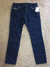 Michael Kors Womens jeans overdyed indigo basics skinny! Size 8