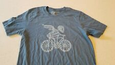 New DHD WEAR Velobones Mens T-Shirt Blue Steel Small