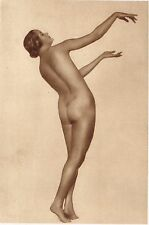 1920's Vintage Danish Female Nude Model Fleischmann Art Deco Photo Gravure Print