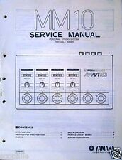 Yamaha MM10 Portable Mixer Unit Original Service Manual, Schematics, Parts List