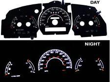 98-03 Ranger w/o RPM Black/White Indiglo Glow El Gauges