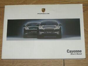 PORSCHE CAYENNE S & CAYENNE TURBO OWNERS MANUAL HANDBOOK ( 2003 - 2006)