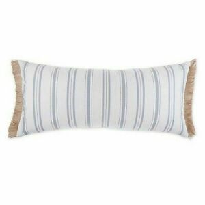 Bee & Willow Vintage Ticking Striped Oblong Throw Pillow Farmhouse Natural Ivory