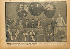 Procès Bonnet Rouge Colonel Voyer Lieutenant Mornet  WWI 1918 ILLUSTRATION