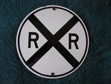 Vintage style RAILROAD Crossing Sign - Black and White!