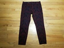 Kut from the Kloth Jeans Womens Size 10 Floral Denim Brigitte Ankle Skinny pants