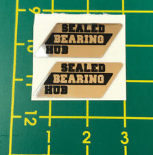 old school bmx decals stickers sealed bearing hubs black chrome