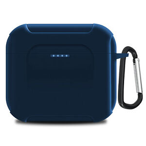 Geekria Silicone Case Cover for Skullcandy Indy Evo Earbuds (Blue)