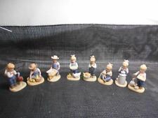 Old Vtg 1985 Homco DENIM DAYS FIGURINES Set 8 Knick Knack Decor Statues