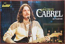 Affiche concert FRANCIS CABREL en tournée *