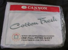 """New Vintage No-Iron """"Cotton Fresh"""" Cannon Full Fitted Sheet Light Powder Blue"""