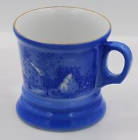 """Currier and Ives, """"The Farmer's Home Winter"""" Blue and White Coffee Mug"""