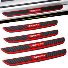 4 Pcs Carbon Fiber Car Scuff Plate Door Sill Cover Panel Step Protector Guard
