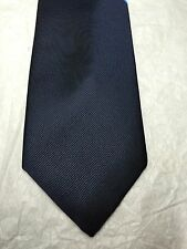 navy blue and yellow striped skinny knitted tie Frederick Thomas FT2035