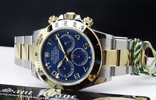 ROLEX 18kt Gold & Stainless DAYTONA Blue Red RACE Arabic 116523 SANT BLANC