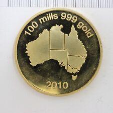 Australia 2010 100 mills .999 Gold medal (3233111C9)