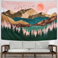 Mount Sunset Forest Tree Printing Hanging Tapestry Wall Art Bedroom Decoration