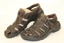 ECCO MISMATCH Mens 41 / 42 NEW Brown Leather Fisherman Sandals Shoes qd