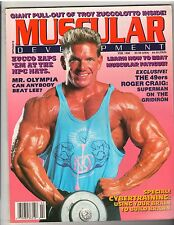MUSCULAR DEVELOPMENT bodybuilding magazine/TROY ZUCCOLOTTO w/poster 2-90