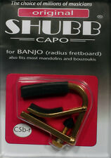 Shubb Radiused banjo capo- brass BC-20BR