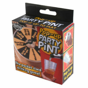 Beer Pint Glass Pop Up Pocket Sized Mini Party Drinking Game Fun Novelty Travel