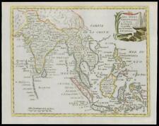 1787 - Original Antique Map SOUTH EAST ASIA INDIA BORNEO SIAM by de la Tour (16)
