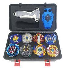 8x Set Beyblade Burst Spinning Con Lanzador De Agarre + Caja de almacenamiento portátil