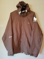 Foursquare Brown Ski Snowboard Jacket Snow Men's Size Medium LS System Hoodie