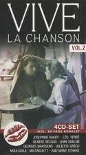 VIVE LA CHANSON VOL 2 NEW 4CD FRENCH LANGUAGE SONGS JOSEPHINE BAKER GRECO FRANCE
