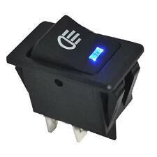 New 12V 35A Car Fog Light Rocker Switch 4Pins Blue LED Dash Dashboard Sales