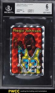 1985 Prism Jewel Stickers Magic Johnson BGS 6 EXMT