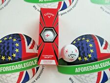 NEW CALLAWAY CHROME SOFT TRUVIS SPECIAL EDITION ENGLAND GOLF BALLS X 3