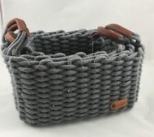 Wittkemper Living 3er Set Korb grau Handmade Stoff Aufbewahrung