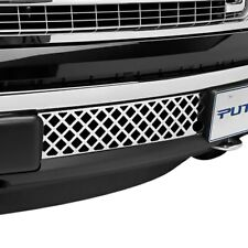 For Ford F-150 11-14 Bumper Grille 1-Pc EcoBoost Series Polished Diamond Punch