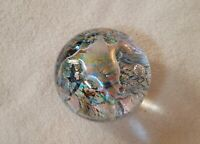 Rebecca Stewart Dichroic Art Glass Paperweight 1995