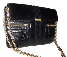 BLOOMINGDALE'S Black Leather Handbag  Shoulderbag Purse Clutch