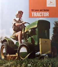 John Deere 1964 Round Fender 110 Lawn Garden Tractor Color Sales Brochure Manual