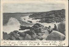 Port Elliot, South Australia - Boulders & Breakers - postcard, stamp 1905 pmk