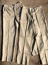 Vtg Wwii 1952 Cotton Military Khaki Fulton Trouser Co Deadstock 33x33 Lot Of 2