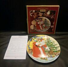 "Spode Cookies For Santa Plate in Box 9"" Christmas Tree Presents Teddy Bear Train"