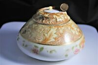 """Vintage porcelain """"Bavarian China Humidor w/ pipe on top"""