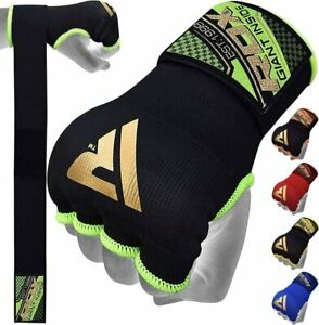 RDX MMA Boxing Quick HandWraps Inner Bandages Gloves Protector MuayThai Green MD