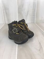 Timberland Toddler Baby Boots Size 4 Brown Lace Up Strap Insulated